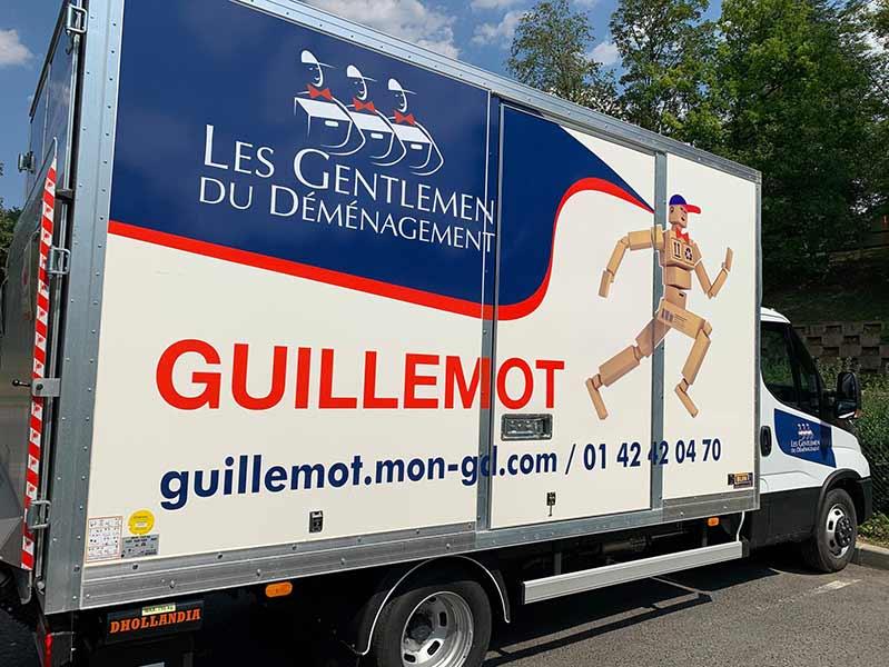 Les camions de déménagements Guillemot